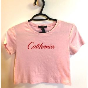 "Forever 21 ""California"" Crop Tee"